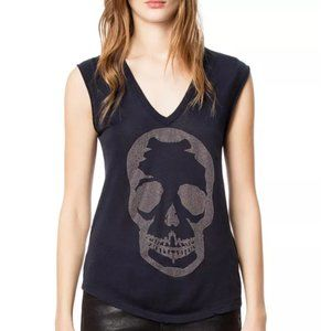 Zadig & Voltaire Brooklyn Skull Embellished Tee